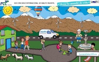 El alumno Carlos Rubio Sansano entre los finalistas en el concurso internacional de dibujo infantil de Aqualia